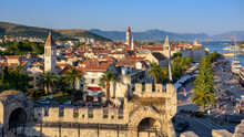 Historical Walled Old Town Of Trogir, Croatia