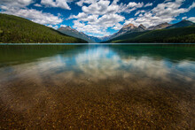 Could Reflections On The Serene Summer Lake Photo Of Bowman Lake In Glacier National Park In Montana.