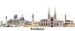 Bordeaux vector city skyline