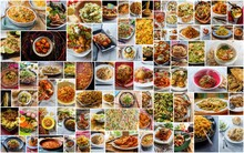 World Cuisine Pasta Collage