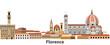 Florence vector city skyline
