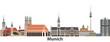 Munich vector city skyline