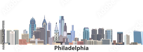 Slika na platnu Philadelphia vector city skyline