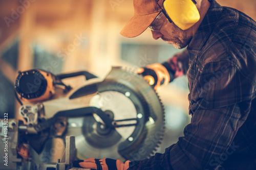 Professional Construction Contractor Worker Fotobehang