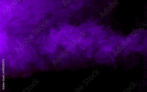 Texture of purple smoke on black