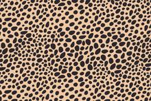 Abstract Dots Animal Print Design. Leopard Print Design. Cheetah Skin Background.