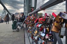 Love Padlocks On Iron Bridge, Frankfurt