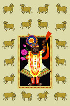 Shrinathji Or Lord Krishna As Painting
