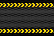 Black Metallic Background With Yellow Stipe Arrows