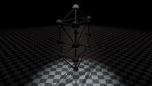 Kabbalah Tree Of Life On Checkerboard Floor 4K Ultra HD Animation