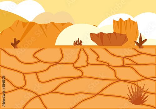 landscape cactus desert Poster Mural XXL