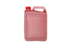 Plastic Jerry Can Isolated On A White Background