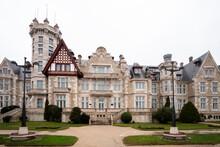 View Of The Magdalena Palace In Santander