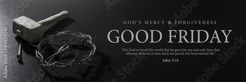 Good Friday Banner Design Tapéta, Fotótapéta