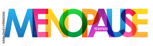 Fotografía MENOPAUSE colorful vector typography banner isolated on white background
