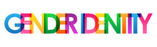 GENDER IDENTITY Colorful Vector Typography Banner Isolated On White Background
