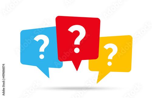 Obraz na plátně Message box with question mark icon