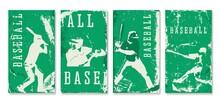 Baseball Vintage Card, Vector Illustration.