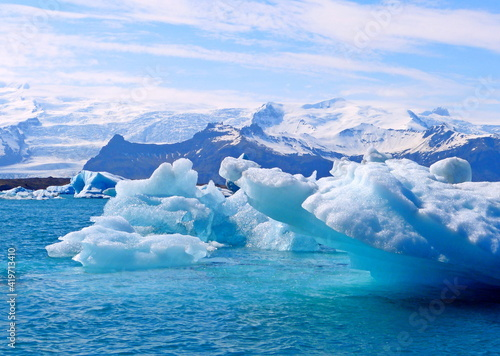 Foto iceberg in polar regions