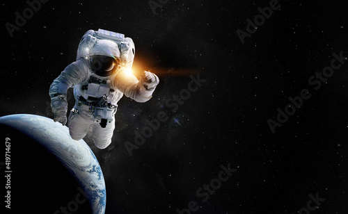 Fotografia Astronaut spaceman outer space