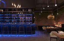 Restaurant, Interior Visualization, 3D Illustration