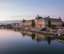 France, Ile-de-France, Paris, Seine River And Muse DOrsay At Dawn