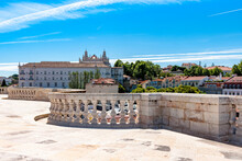 Portugal, Lisbon, National Pantheon And Monastery Of Sao Vicente De Fora In Distance