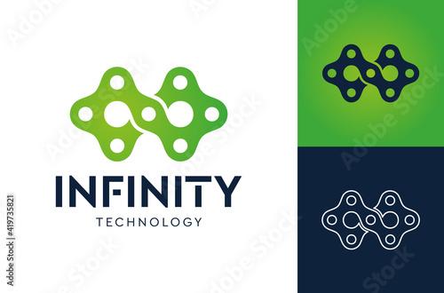 Fototapeta Infinity Tech logo vector template, Creative Infinity logo design concept. obraz