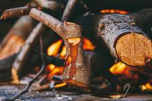 Bonfire Close-up.
