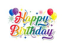 Happy Birthday Text Vector Eps. 10