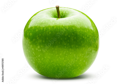 Foto Green apple on white isolated background