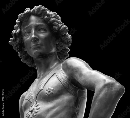 Canvas Print David killer of Goliath ancient statue