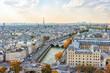Paris city panorama in daytime