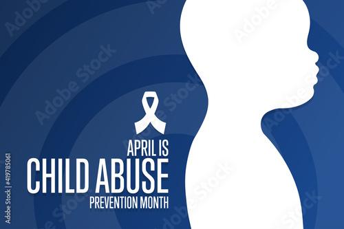 Slika na platnu April is National Child Abuse Prevention Month
