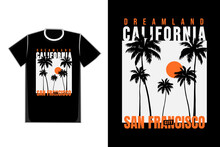 T-shirt Beach San Francisco California Sunshine Style Vintage