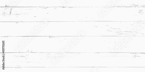 Obraz White wooden surface background, vector plank wood texture - fototapety do salonu