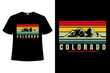 T-shirt colorado mountain beautiful retro style