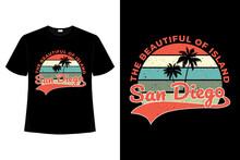 T-shirt San Diego Island Beautiful Retro