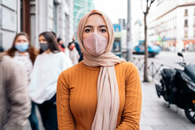 Young Muslim Woman In The City