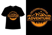 T-shirt Adventure Mountain Pine Climber Vintage