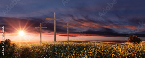 Carta da parati Crucifixion and Resurrection