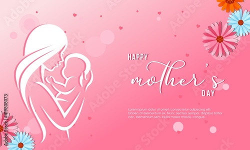Happy mother's day background illustration concept