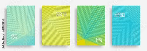 Obraz Hexagonal halftone pattern cover pages vector creative design. - fototapety do salonu