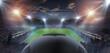Leinwandbild Motiv Soccer game in the stadium - template background screen