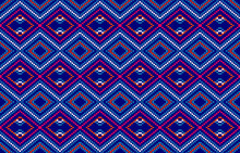 Tribal Ethnic Vector Pattern.Designs For Fabric And Printing.Geometric Ethnic Pattern Embroidery Design For Background Or Wallpaper And Clothing.