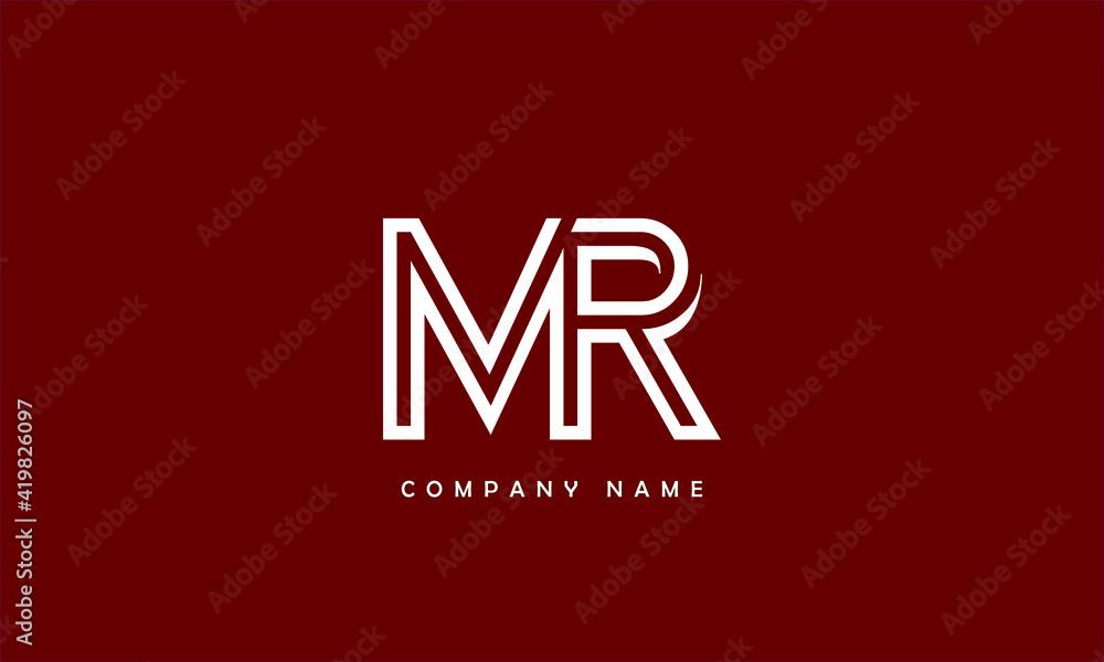 Fototapeta MR, RM, M, R Abstract Letters Logo Monogram