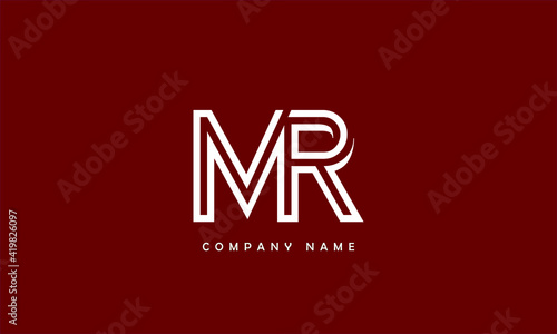 Fototapeta MR, RM, M, R Abstract Letters Logo Monogram obraz