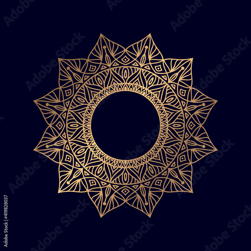 Fototapeta Islamic luxury mandala round ornament pattern style design background Vector illustration element obraz