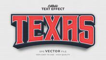 Editable Text Style Effect - Texas Retro Text Style Theme