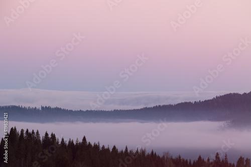 Fototapeta Panorama z Czarnej Góry, Podhale obraz